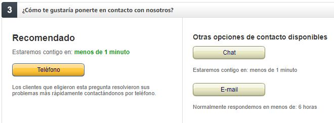TELEFONO DE CONTACTO AMAZON EN ESPAÑA