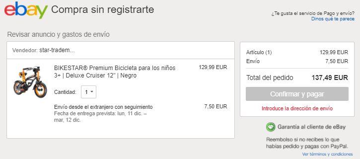 Comprar como invitado en eBay
